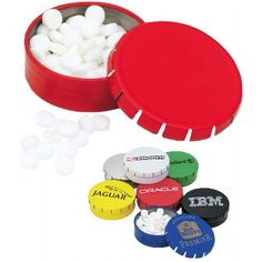 These mints are great for goodie bags and with your business branded on the lid