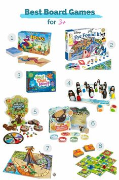 Best Board Games for kids 3 and up including Hiss, Pengoloo, Dinosaur Escape, Hoot Owl Hoot, and more. Family Game Night, Family Games, Bord Games, Board Games For Kids, Unique Products, Playrooms, Kids Rooms, Squirrel, Childrens Books