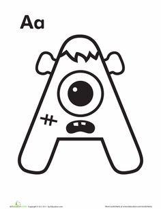 This alphabet has come alive! Color these wacky letters with your little monster as he learns his ABCs.