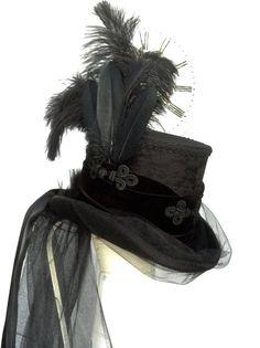 Corsetto gotico vittoriano equitazione top hat