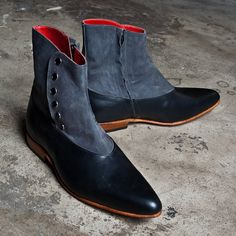 1920's vintage inspired boots Spats Gray victorian boots custom made FREE WORLDWIDE SHIPPING. $260.00, via Etsy.