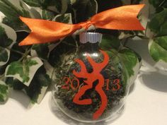Personalized Christmas  ornament, country living on Etsy, $4.50