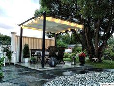trädgård,uterum,trädäck,uteplats,skiffer Simple Colors, Warm Colors, Timber Roof, Getaway Cabins, Album, Animal Shelter, Natural Stones, Pergola, Eco Friendly