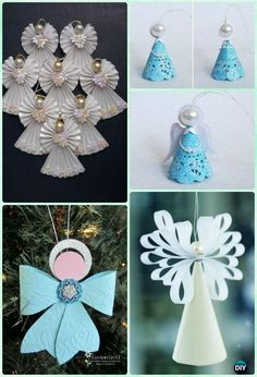 DIY Paper Angel Ornament Instruction- DIY Paper Christmas Tree Ornament Craft Ideas