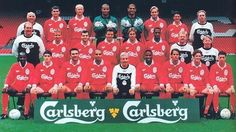Squad picture for the season - LFChistory - Stats galore for Liverpool FC! Squad Pictures, Squad Photos, Team Photos, Liverpool Fc Team, Liverpool Legends, Jamie Redknapp, John Barnes, Mark Wright, Sports