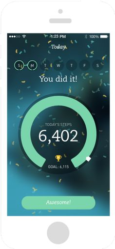 A movement app by Runkeeper. The color palette is nice and clean, and the #FlatDesign really hits the spot.