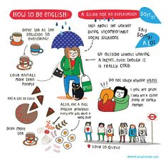 How to be English - Art print by messy my