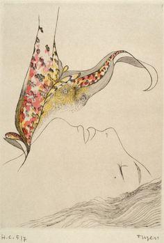 #Toyen (Marie Čermínová, 1902-1980) - Untitled (Chapter X), N/D drypoint
