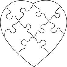 Puzzle-I see a quilt. A mini quilt? Valentine Heart, Valentine Crafts, Christmas Crafts, Puzzle Piece Crafts, Puzzle Pieces, Embroidery Files, Embroidery Applique, Love Coloring Pages, Scroll Saw Patterns Free