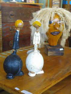 Gourd bride and groom... Love these dolls from Minas Gerais, Brasil.