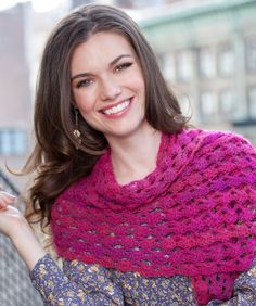Versatile Shawl #RedHeart #Lacie #crochet