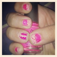 Valentine's Day nail art done by me =]