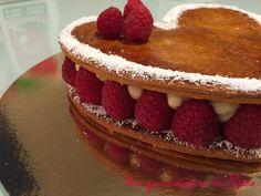 Millefeuilles coeur vanille-framboise de saint Valentin