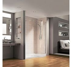 images of shower screens in alcove only glass at front - Google Search