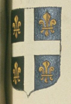 Antoine de SAINT-MARTIN, bourgeois de la ville d'Arles. Porte : de sable, à une croix d'argent, cantonnée de quatre fleurs de lis d'or   N° 338