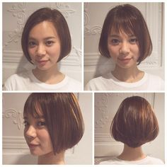 Low updos hairstyles quick hairstyles,best bob cut hairstyles crown braid wedding hair,finger waves male how to braid 6 strands. Short Bob Hairstyles, Hairstyles With Bangs, Asian Short Hair, Hair Puff, Hair Arrange, Hair Photo, Hair Inspiration, Short Hair Styles, Hair Makeup