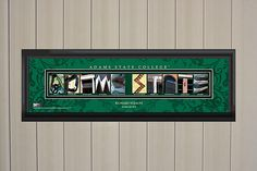 Personalized Adams State College Letter Art Print Green College Letters, State College, Letter Art, Wall Art Prints, Lettering, Handmade Gifts, Frame, Green, Etsy