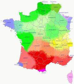 Carte linguistique de la France