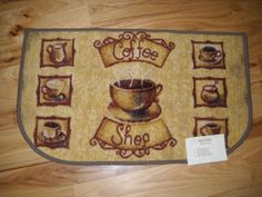 Coffee Shop Mugs Kitchen Throw Rug Cafe Decor By Pint, Http://www