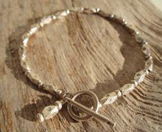 All Fine Silver Bracelet by kudzupatch on Etsy, $85.00