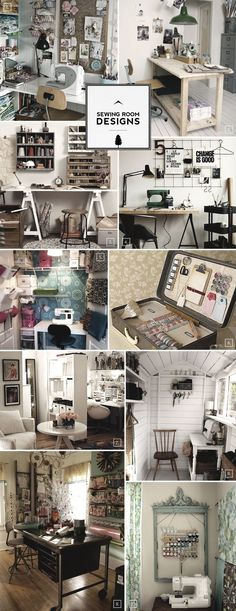 sewingroom storage ideas | Sewing Room Designs: Large and Small to Colorful and Rustic Ideas ...