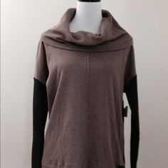 HP @hrachal 😍 CK color block sweater NWT 🆒 Calvin Klein color block cowl neck sweater NWT. Perfect combination of colors, taupe, black, and gray. Size large. 55% cotton 45% polyester, 5% spandex. Pair with jeans, leggings, black skirt. Very versatile 😍👍. Price is firm unless bundled. Thanks for visiting my closet. Calvin Klein Sweaters Cowl & Turtlenecks