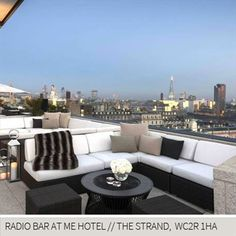 Rooftop Bars London, Radio Bar at Me Hotel, The Strande