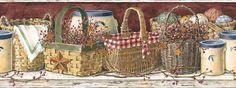 Country Baskets Wallpaper Border PC3963BD http://decorate247.com/country-baskets-wallpaper-border-pc3963bd/