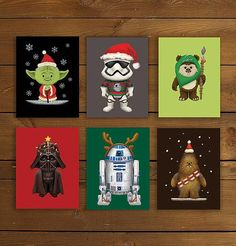 #starwars #greetingcards #christmas #christmascards #holiday #yoda #darthvader #stormtrooper #wookie #ewok #r2d2