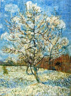 Van Gogh's Peach Trees in Blossom (1888)