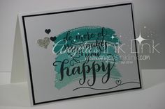 Hello stampers.  This project was so fast, I can see whipping out a whole slew of these bad boys.  SO easy to make and it came together in minutes.  I think this saying is absolutely adorable (I'm a sucker for fonts).  You could use this for wedding, birthday, get well, encouragement... just stinking cute! Typically,…