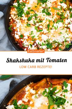 Shakshuka mit Tomaten und Zucchini Shakshuka with tomatoes and zucchini – smarter – calories: 522 kcal – time: 35 min. Clean Eating Recipes, Lunch Recipes, Meat Recipes, Vegetarian Recipes, Healthy Recipes, Vegetable Soup Healthy, Healthy Soup, Healthy Lunches, Salad Ingredients