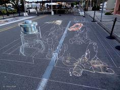 3d-drawing-sarasota by leon keer, via Flickr 3d Street Art, Amazing Street Art, Street Art Graffiti, Artwork Display, Sarasota Florida, 3d Drawings, Image Shows, Art Projects, Explore