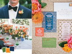 Stunning colour palette!  Classic Wedding Color Palettes We Love | TheKnot.com