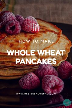 """I don't have to tell you I love you..I fed you Pancakes!"" :D    Enjoy this Eggless whole wheat Pancake recipe!"