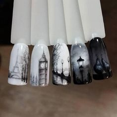 Gel Nail Designs You Should Try Out – Your Beautiful Nails Fabulous Nails, Perfect Nails, Gorgeous Nails, Pretty Nails, Paris Nails, Vintage Nails, Autumn Nails, Halloween Nail Art, Gel Nail Art