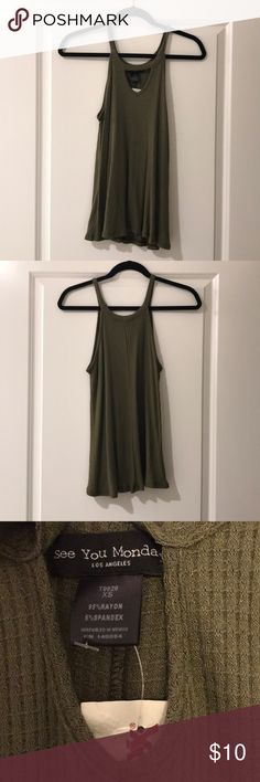 See You Monday tank See You Monday tank from tjmaxx   ~~ BRAND NEW WITH TAGS ~~  Olive green  Size XS See You Monday Tops Tank Tops