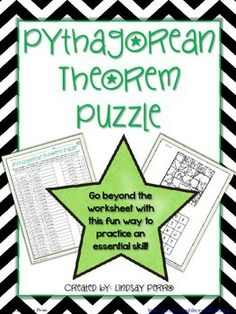 Pythagorean Theorem Math Lib  Math Activities And School