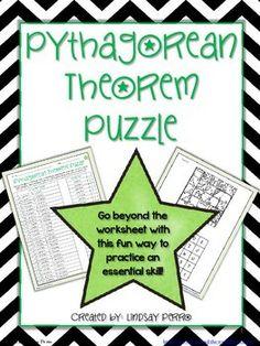 Pythagorean Theorem Coloring Activity | Pythagorean ...