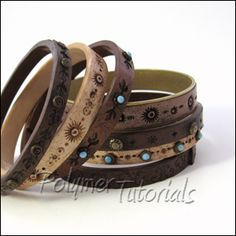 Polymer Tutorials: Faux Leather Bracelets Tutorial