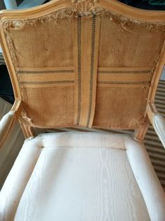 Excellent in detailed explanation of how to - Reupholstering a chair - broken down in several parts.