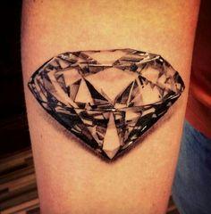 Awesome detail diamond tattoo