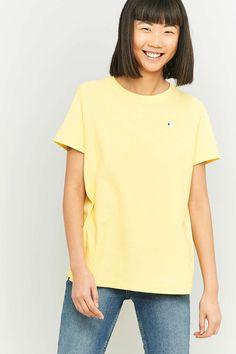 Champion - T-shirt à petit logo jaune