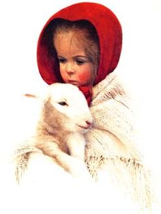 Grace and her Lamb-Mitchell Tolle (Ky. Artist)