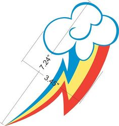 rainbow dash cake template - my little pony wing template google search mlp cosplay