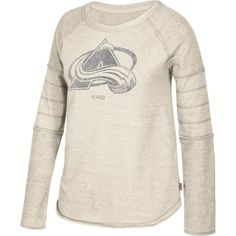 CCM Women's Colorado Avalanche Grey Raglan Long Sleeve Shirt, Size: Medium, Team