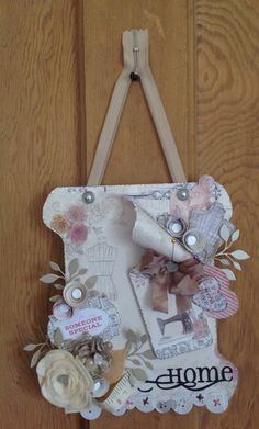 Wall hanging designed by Emma Smith using Paper Couture kit.