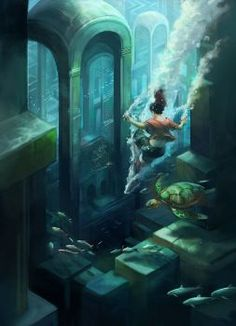"""Underwater Adventure  From """"Imagined Realms Book 2: Earth and Sky"""" on kickstarter"""