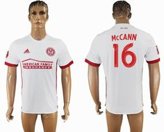 2017-2018 Atlanta United FC #16 McCANN Thailand version white soccer jersey away