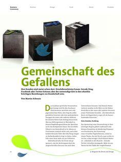 """""""Gemeinschaft des Gefallens"""" (01) von Martin Schwarz über Social Media in der Druckindustrie"""
